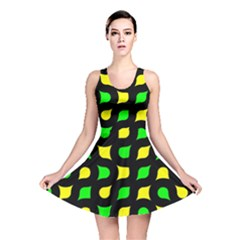 Yellow Green Shapes                                                     Reversible Skater Dress