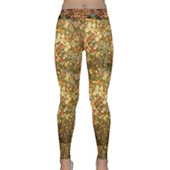 Fallen Autumn Leaves Classic Yoga Leggings by SusanFranzblau