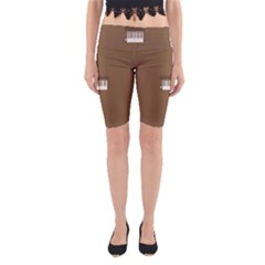 Keyboard Brown Yoga Cropped Leggings by Jojostore