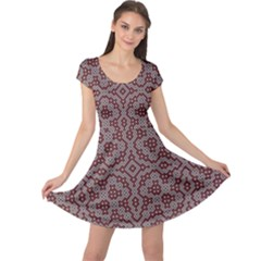 Simple Indian Design Wallpaper Batik Cap Sleeve Dresses