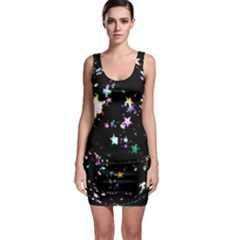 Star Ball About Pile Christmas Sleeveless Bodycon Dress by Nexatart