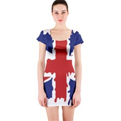 Uk Splat Flag Short Sleeve Bodycon Dress