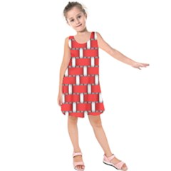 Weave And Knit Pattern Seamless Background Wallpaper Kids  Sleeveless Dress