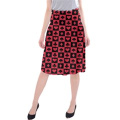 Queen Hearts Card King Midi Beach Skirt by Jojostore