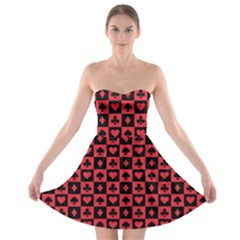 Queen Hearts Card King Strapless Bra Top Dress by Jojostore