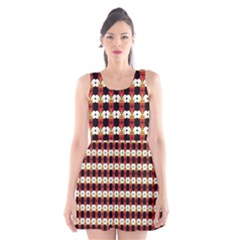 Queen Of Hearts  Hat Pattern King Scoop Neck Skater Dress by Jojostore