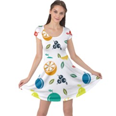 Fruit Lime Cap Sleeve Dresses by Jojostore