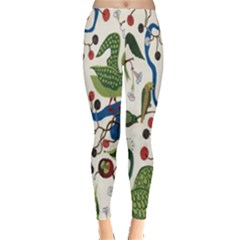 Bird Green Swan Leggings  by Jojostore