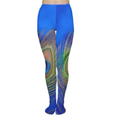 Blue Peacock Feather Women s Tights by Amaryn4rt