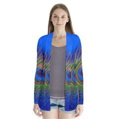 Blue Peacock Feather Cardigans by Amaryn4rt