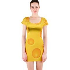 Cheese Short Sleeve Bodycon Dress