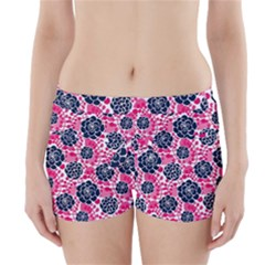 Flower Floral Rose Purple Pink Leaf Boyleg Bikini Wrap Bottoms by Jojostore