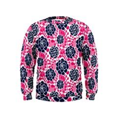 Flower Floral Rose Purple Pink Leaf Kids  Sweatshirt