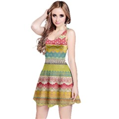 Colorful Bohemian Reversible Sleeveless Dress by Brittlevirginclothing