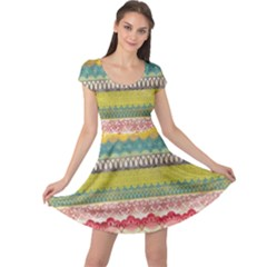 Colorful Bohemian Cap Sleeve Dresses by Brittlevirginclothing