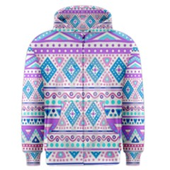 Tribal Pastel Hipster  Men s Zipper Hoodie by Brittlevirginclothing