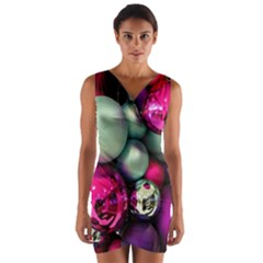 Christmas Garlands Wrap Front Bodycon Dress by Brittlevirginclothing