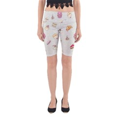 Cute Cakes Yoga Cropped Leggings by Brittlevirginclothing