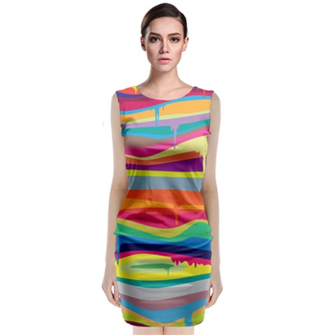 Melting Paint Classic Sleeveless Midi Dress
