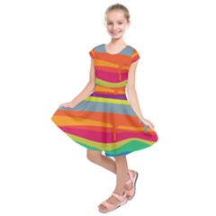 Melting Paint Kids  Short Sleeve Dress by Brittlevirginclothing