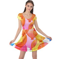 Rainbow Balloon Cap Sleeve Dresses by Brittlevirginclothing