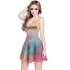 Colorful Light Reversible Sleeveless Dress by Brittlevirginclothing