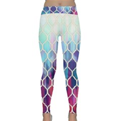 Purple Moroccan Mosaic Classic Yoga Leggings by Brittlevirginclothing