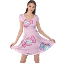 Cute Candy Cap Sleeve Dresses by Brittlevirginclothing