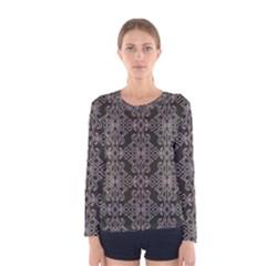 Line Geometry Pattern Geometric Women s Long Sleeve Tee by Amaryn4rt