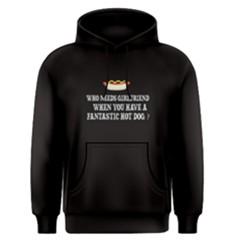 Black Hotdog Vs Girlfriend Men s Pullover Hoodie by FunnySaying