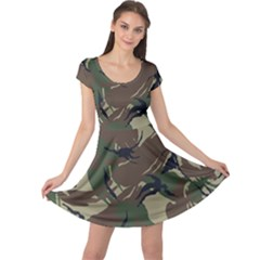 Army Shirt Grey Green Blue Cap Sleeve Dresses by Jojostore
