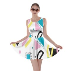 Design Elements Illustrator Elements Vasare Creative Scribble Blobs Yellow Pink Blue Skater Dress