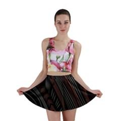 Trailer Drax Line Brown White Chevron Galaxy Space Mini Skirt by Jojostore