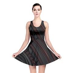 Trailer Drax Line Brown White Chevron Galaxy Space Reversible Skater Dress by Jojostore
