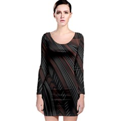 Trailer Drax Line Brown White Chevron Galaxy Space Long Sleeve Bodycon Dress by Jojostore
