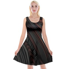 Trailer Drax Line Brown White Chevron Galaxy Space Reversible Velvet Sleeveless Dress by Jojostore