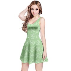 Formula Leaf Floral Green Reversible Sleeveless Dress