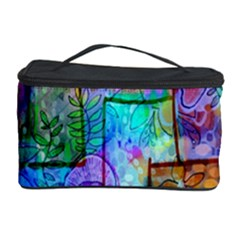 Rainbow Floral Doodle Cosmetic Storage Case by KirstenStar