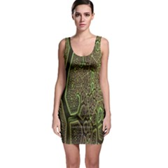 Fractal Complexity 3d Dimensional Sleeveless Bodycon Dress by Nexatart