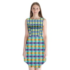 Pattern Grid Squares Texture Sleeveless Chiffon Dress   by Nexatart