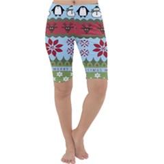 Ugly Christmas Xmas Cropped Leggings  by Nexatart