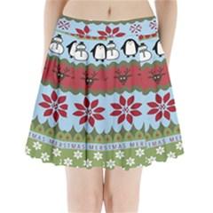 Ugly Christmas Xmas Pleated Mini Skirt by Nexatart