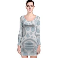 Eguipment Grey Long Sleeve Bodycon Dress