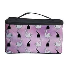 Goose Swan Hook Purple Cosmetic Storage Case by Alisyart