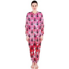 Goose Swan Anchor Pink Onepiece Jumpsuit (ladies)  by Alisyart