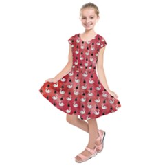 Goose Swan Hook Red Kids  Short Sleeve Dress