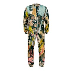 Art Graffiti Abstract Vintage Onepiece Jumpsuit (kids) by Nexatart