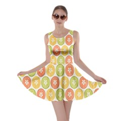 Lime Orange Fruit Slice Color Skater Dress by Alisyart