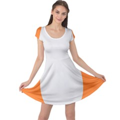 Orange White Egg Easter Cap Sleeve Dresses