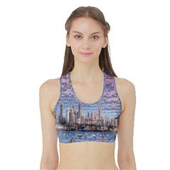 Auckland Travel Sports Bra With Border by Nexatart